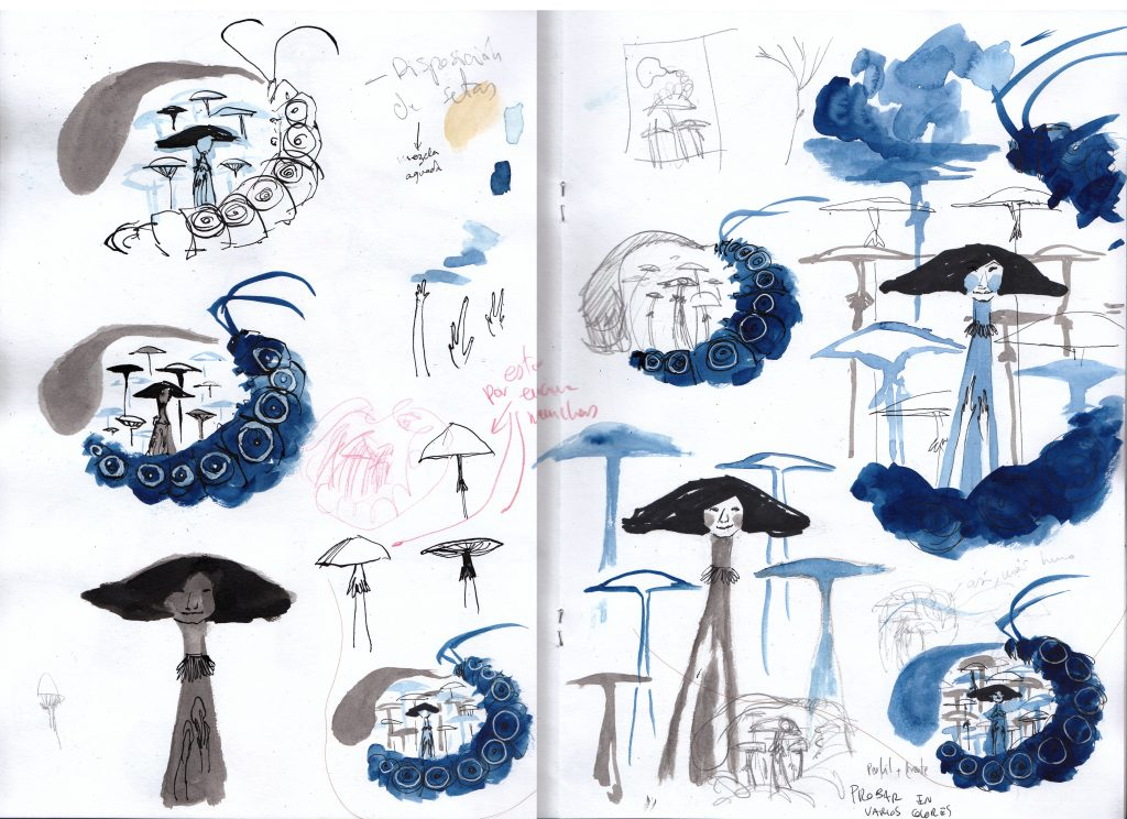 Alice in Wonderland Sketches 4