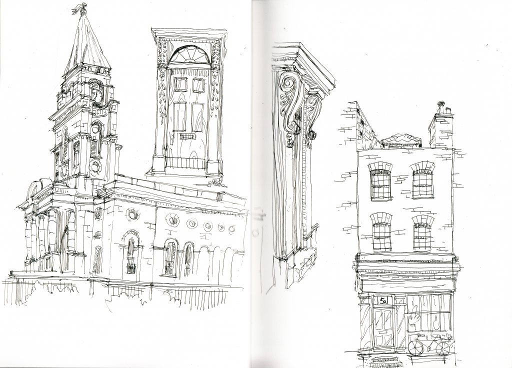 Spitalfields christ church sketch