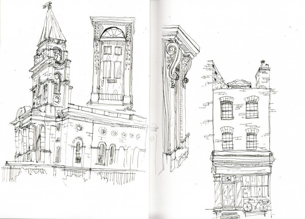 Spitalfields christ church sketch