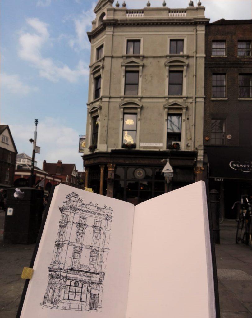 London urban sketchers ten bells